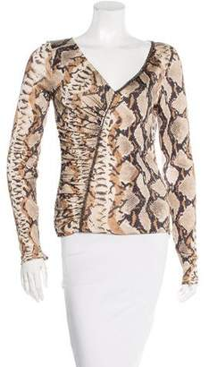 Blumarine Silk Printed Top
