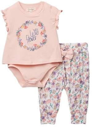 Jessica Simpson Bodysuit & Legging Set (Baby Girls)