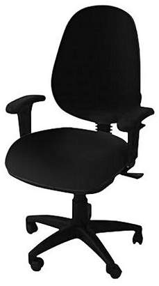 Office Chairs Ezitask High Back Office Chair with Arms, Diami Black
