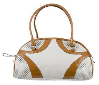 prada Prada Perforated Bauletto Bag