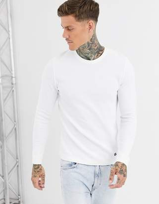waffle jumper in white
