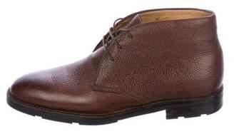 Kiton Leather Desert Boots