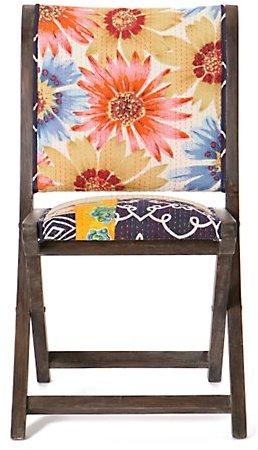 Terai Folding Chair, Floral Stripe