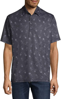 Haggar Short Sleeve Knit Polo Shirt