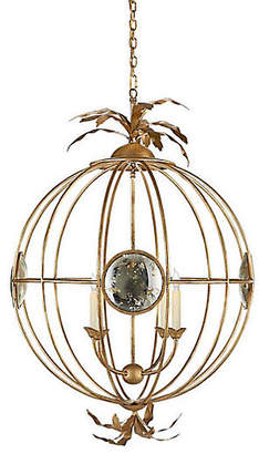 Visual Comfort & Co. Gramercy Large Globe Chandelier - Gilded Iron