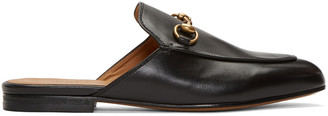 Gucci Black Princetown Slip-On Loafers $595 thestylecure.com
