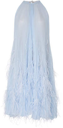 Oscar de la Renta Feather Cocktail Dress