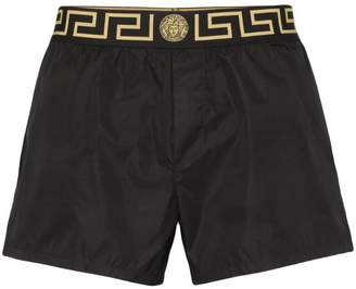 Versace Greca border swim shorts