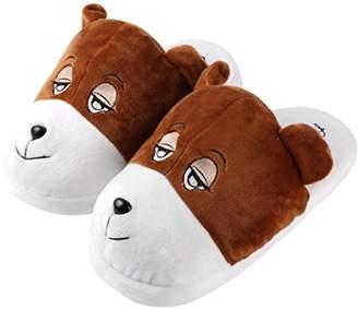 Aerusi Bear Animal Plush Slipper