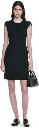 Alexander Wang Fitted Pencil Dress With Cap Sleeve And Contoured Seams