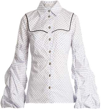 Caroline Constas Ambrose micro floral-print cotton shirt