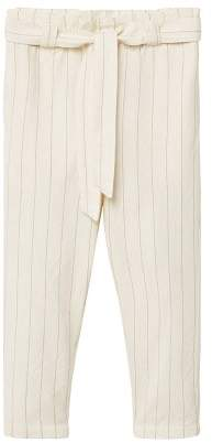 MANGO Striped cotton trousers
