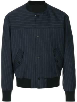 CK Calvin Klein pinstripe bomber jacket
