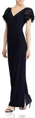 Lauren Ralph Lauren Embellished Jersey Gown