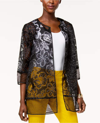 Alfani Printed Mesh Jacket, Created for Macy's