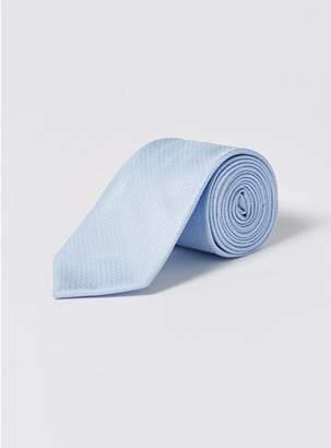 Topman Mens Light Blue Textured Tie