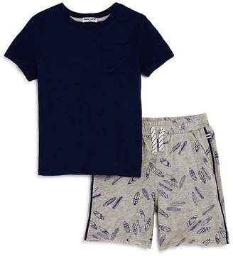 Splendid Boys' Pocket Tee & Surfboard-Print Shorts Set - Little Kid