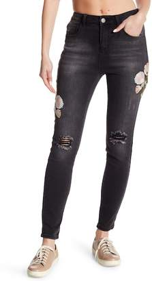 Romeo & Juliet Couture Embroidered Slim Fit Jeans