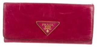 Prada Vitello Shine Flap Wallet