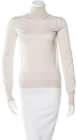 Hermès Cashmere & Silk-Blend Turtleneck Top