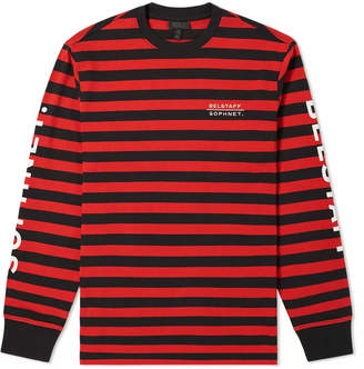 Belstaff x SOPHNET. Long Sleeve Brownstone Stripe Tee