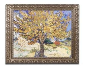 "Mulberry Trademark Global Vincent van Gogh 'Mulberry Tree, 1889' Ornate Framed Art - 16"" x 20"""