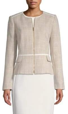 Calvin Klein Textured Front Zip Jacket