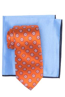 Ted Baker Silk Coin Medallion Tie & Pocket Square