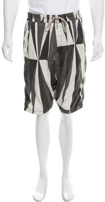 Rick Owens Printed Drop Crotch Shorts