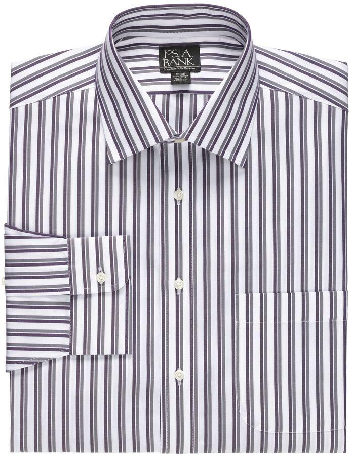 Jos. A. Bank Traveler Tailored Fit Spread Collar Dress Shirt