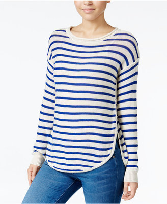 Jessica Simpson Striped High-Low Sweater $59.50 thestylecure.com