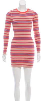 Torn By Ronny Kobo Textured Striped Dress w/ Tags