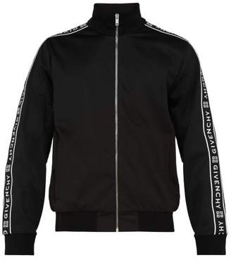 Givenchy Logo Tape Jersey Track Jacket - Mens - Black