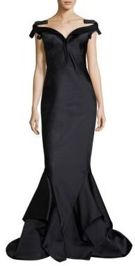 Zac Posen Off-The-Shoulder Long Mermaid Gown $5,990 thestylecure.com