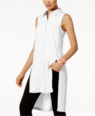 Alfani PRIMA Split High-Low Tunic Blouse, Only at Macy's $79.50 thestylecure.com