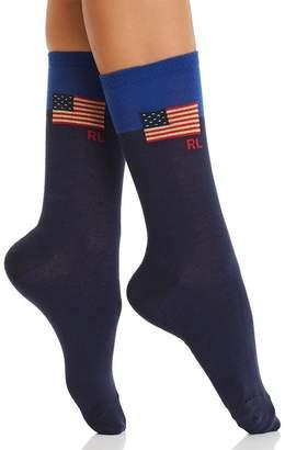 Ralph Lauren Colorblock Flag Trouser Socks