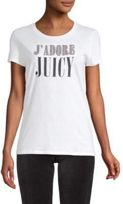 Juicy Couture Embellished J Adore Cotton Tee