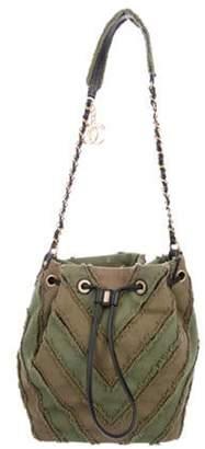 Chanel 2017 Canvas Twist Bucket Bag Olive 2017 Canvas Twist Bucket Bag