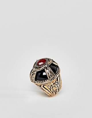 Asos Design Statement Dome Jewel Ring
