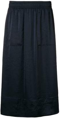 Theory elasticated waistband midi skirt