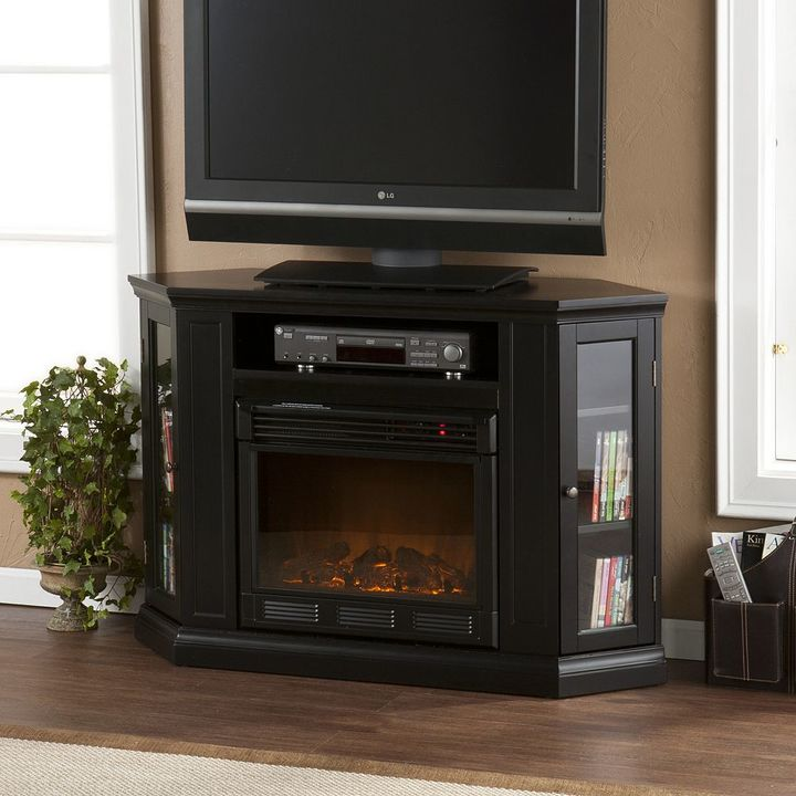 Southern enterprises Abbey Convertible Media Console Electric Fireplace
