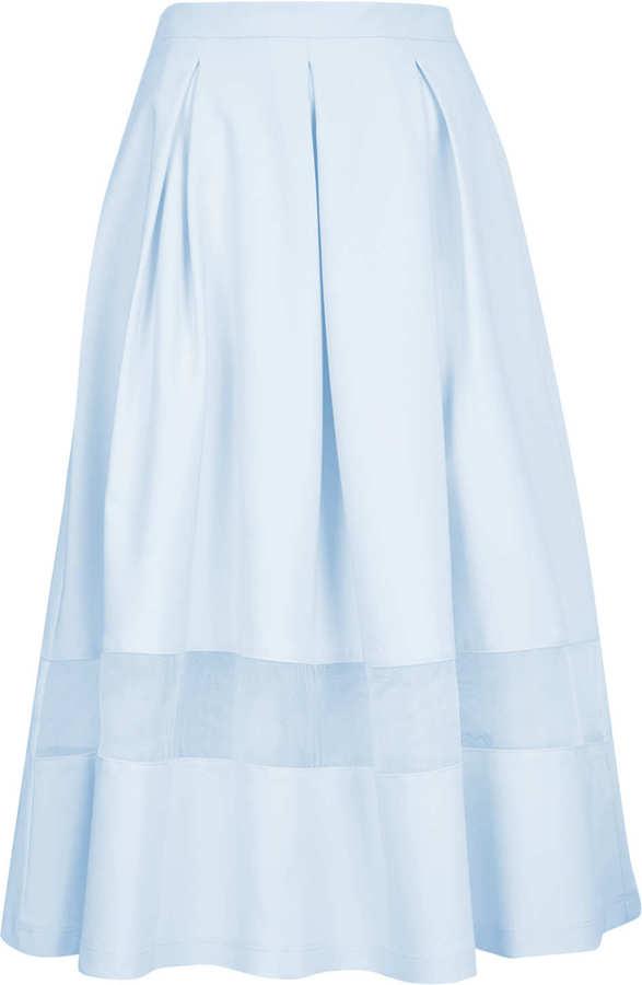 Topshop Tall Organza Midi Skirt