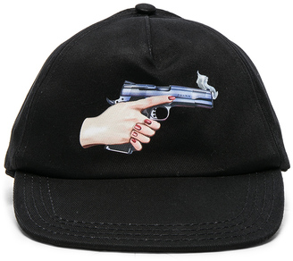 OFF-WHITE Hand Gun Baseball Cap $133 thestylecure.com