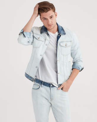 7 For All Mankind Trucker Jacket In Off Limits