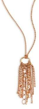 ginette_ny Women's Mini Unchained 18K Rose Gold Tassel Necklace - Rose Gold