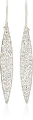 Ila Odette 14K White Gold Diamond Earrings