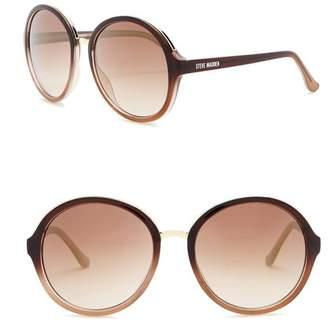 Steve Madden 59mm Round Sunglasses