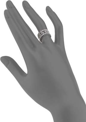 Freida Rothman Contemporary Deco Two-Tone Sterling Silver Five-Piece Ring Set