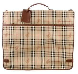 Burberry Haymarket Check Garment Bag