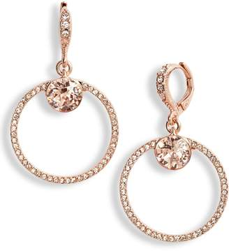 Givenchy Pave Open Circle Drop Earrings